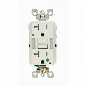 Leviton 20 Amp Smartlockpro Hospital Grade Heavy Duty Tamper Resistant Duplex Gfci Outlet With