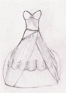 how to draw wedding dresses wedding rings for women With how to draw a wedding dress