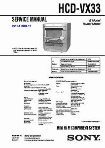 Sony Mhc-vx3 Service Manual