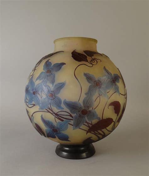 vase pate de verre verrerie vase en pate de verre 3 couches signature japonai