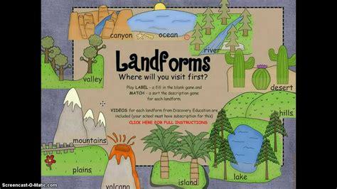 landforms  smartboard  discovery education links