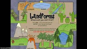 Landforms For Smartboard With Discovery Education Links Preview