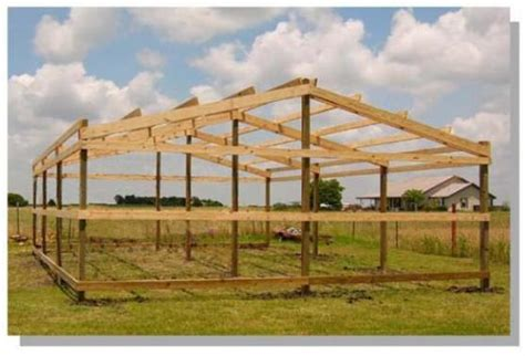 how to build a pole barn how to build pole barn post beam structure secrets