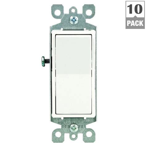 leviton decora 15 single pole ac quiet switch white