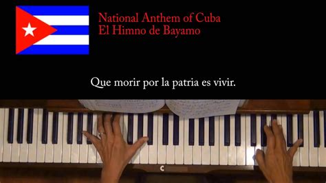 The presentations have led the world diverse repertoires in large format, but also chamber music. National Anthem of Cuba Piano Tutorial At Tempo - YouTube