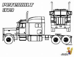 Peterbilt Semi Truck Coloring Pages Crafty Things U0026 Diy