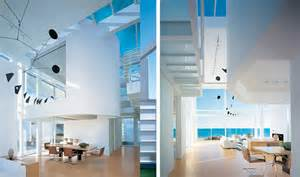 White Interior Homes Modern House With White Exterior Paint By Richard Meier Digsdigs