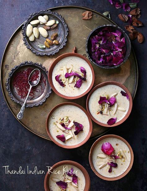 food talk thandai indian rice kheer holi time