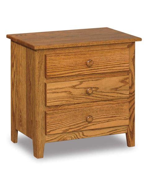 Shaker Nightstand by Shaker Wide 3 Drawer Nightstand Amish Direct Furniture
