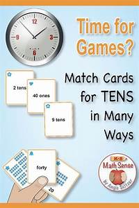 Understanding Tens  Set Of 40 Math Matching Cards With