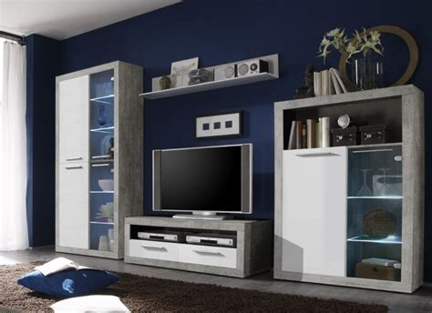 greystone white gloss  grey lounge furniture display