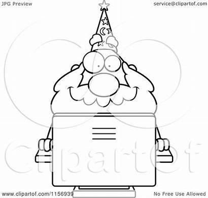 Wizard Computer Cartoon Plump Desktop Using Clipart