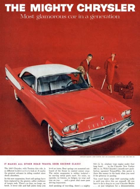 Chrysler Advertising by The Nifty Fifties 1957 Chrysler Advertisement
