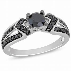 Black diamond engagement rings zales wedding and bridal for Black wedding rings with diamonds