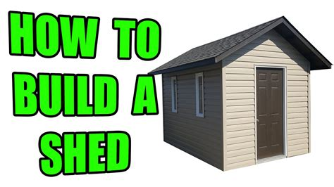 build  shed   concrete pad youtube
