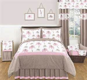 elephant pink taupe comforter set 3 piece full queen size by sweet jojo designs blanket