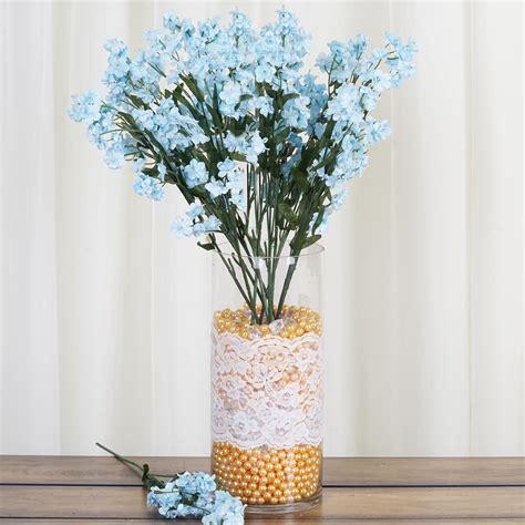 36 bushes baby breath silk filler flowers for wedding