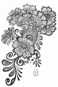 16 Flower Designs Drawings Images - Sakura Flower Drawing ...