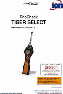 Phocheck Tiger Select Instrument User Manual V1 1 Tiger