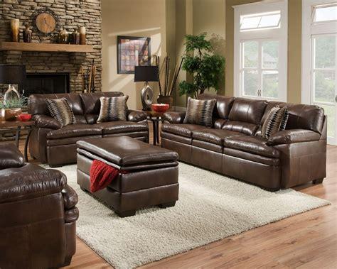 brown sofa living brown bonded leather sofa set casual living room furniture