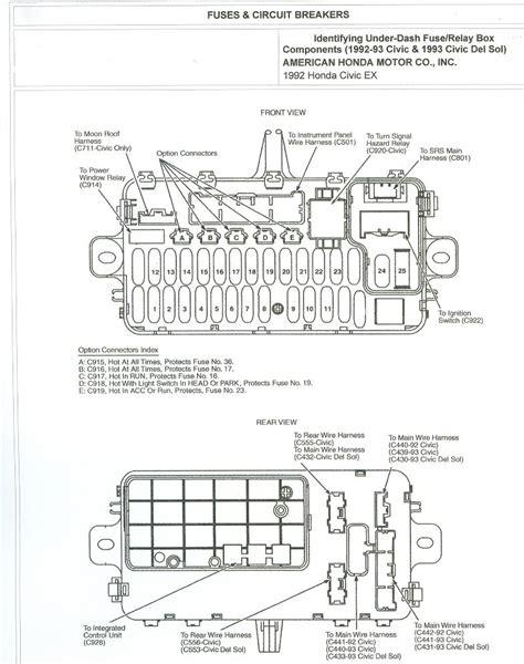 Honda Civic Wagon Wiring Diagram by Free Auto Wiring Diagram 1992 Honda Civic Fuse Box And
