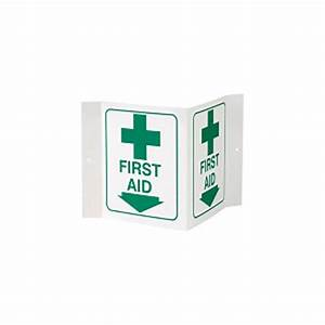 first aid 3 d rigid plastic sign aed cabinet safety With kitchen cabinets lowes with first aid stickers