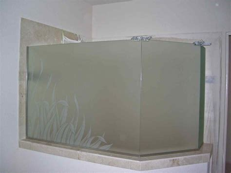 reeds frosted glass shower etched glass tropical design