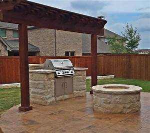 Bbq, Grill, Fire, Pit, And, Patio