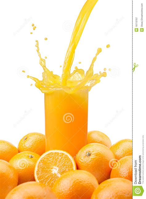 pouring orange juice royalty  stock photography