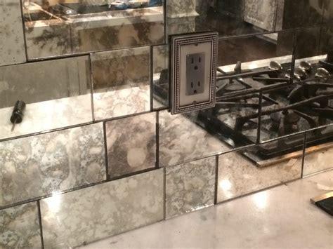 antique mirror tiles antique mirror backsplash installed