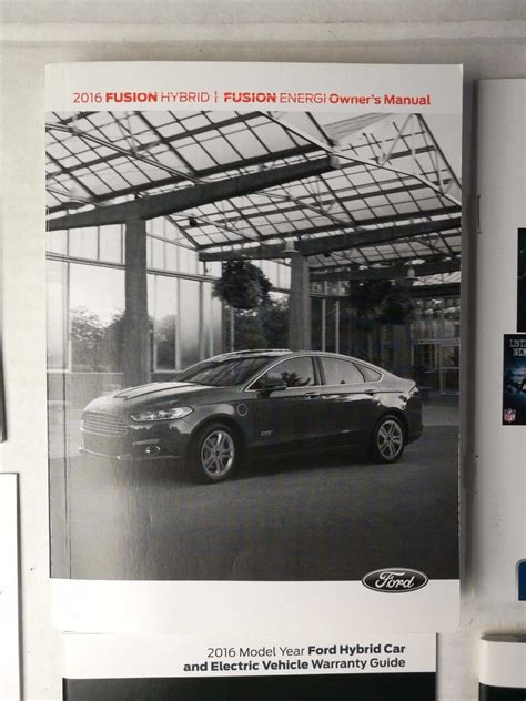 ford fusion hybridenergi owners manual