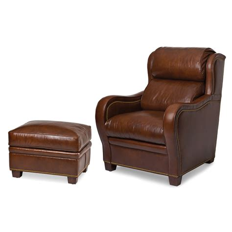 hancock and moore leather ottoman hancock and moore 5566 christopher ottoman discount