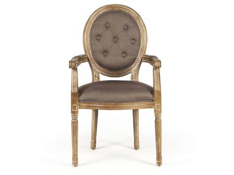 chaise en bois avec accoudoir chaise médaillon avec accoudoirs en polyester et bois
