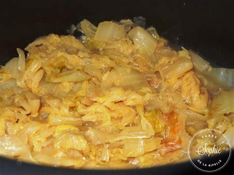 cuisiner le chou chinois chou chinois braisé la tendresse en cuisine