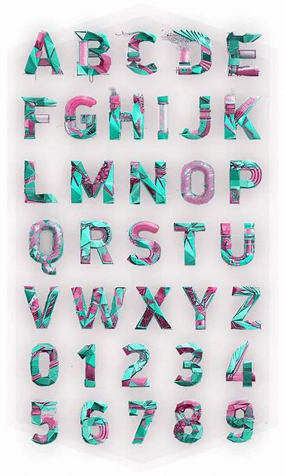 Behance Alphabet Polygonal Letters Typography Inspiration Project