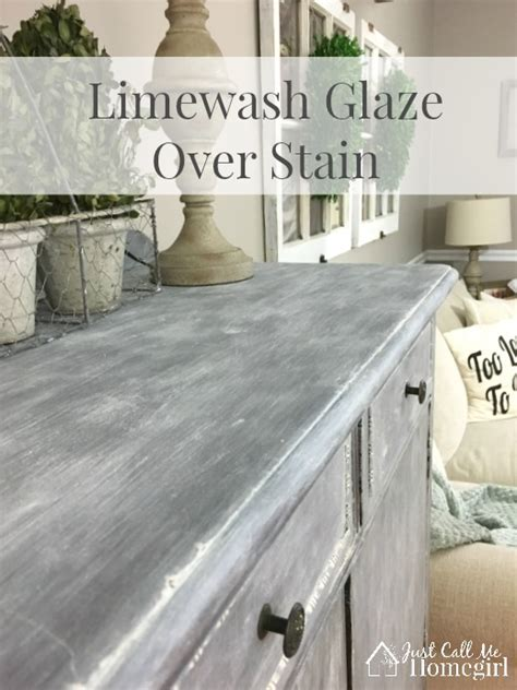 Limewash Glaze Over Stain   Just Call Me Homegirl