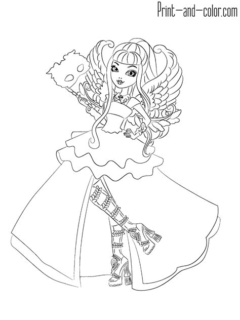 Coloring High by After High Coloring Pages Print And Color