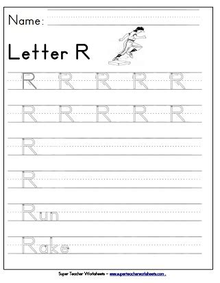 letter r worksheets recognize trace print