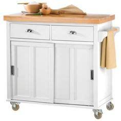 Cuisine Butcher Block Kitchen Island Cart With Back Splash