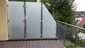 Sichtschutz Balkon Glas : glaszaun transvent als sichtschutz im garten glasprofi24 ~ Indierocktalk.com Haus und Dekorationen