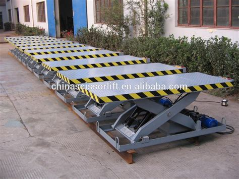 Low Profile Hydraulic Container Loading Dock Scissor Lift