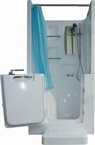 Senioren dusche sitzbadewanne sitzwanne badewanne mit t r for Sitzbadewannen mit dusche
