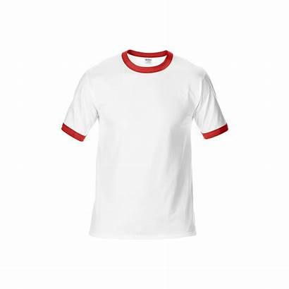 Shirt Ringer Gildan Neck Round Shirts Colors