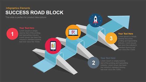 success road block powerpoint keynote template slidebazaar