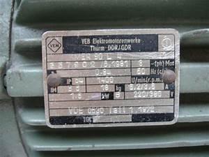 Elektromotor VEM VEB Thurm DDR Takraf Lunzenau