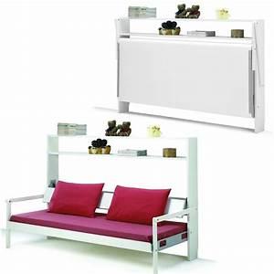 armoire lit banquette 1 personne livio 2 armoire lit With meuble combiné canapé lit bureau armoire
