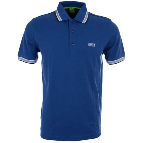 hugo green paddy modern fit pique blue polo hugo from n22 menswear uk