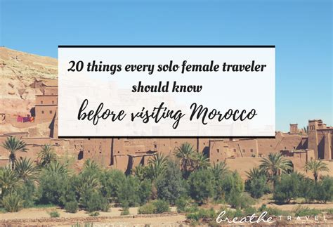 20 Things Every Solo Female Traveler Should Know Before