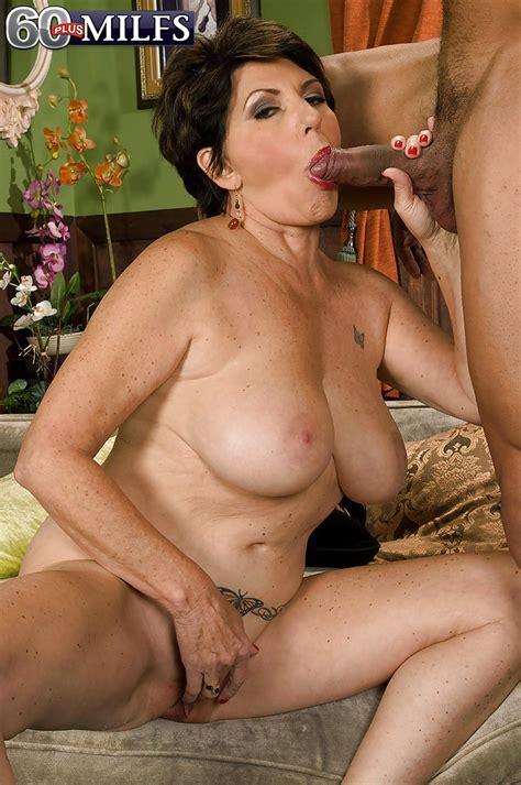 Naked Granny Bea Cummins Masturbating While Sucking Off