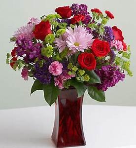 Photos of flower on valentine in dark red glass vase.PNG